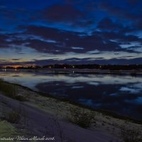Ночные облака в Волге. :: Виктор Евстратов