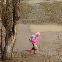 Из школы под дождем :: Viktor Eremenko