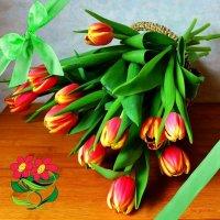 Корзинка с тюльпанами :: Nina Yudicheva
