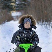 Мотокросс по зимним дорожкам :: Виктор Куприянов