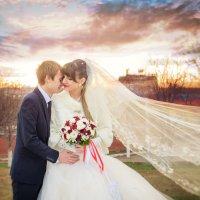 свадебное фото на закате :: Наталья