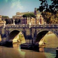 Рим. Мост Ангела - искусство, дремлющее в камне... :: Ирина Falcone