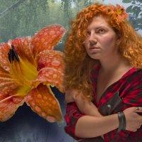Замерзающий цветок :: Екатерина Рябинина