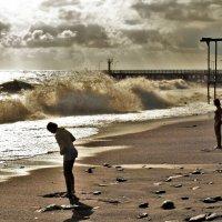 пляж в Лоо /сепия/ :: Дмитрий Михайлиди