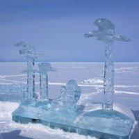 Ледовый городок на Байкале. г.Байкальск. Красный ключ. :: Елена Савчук