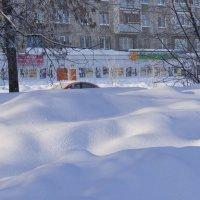 Ночью был сильный снегопад. Кемерово, январь :: Edward Metlinov