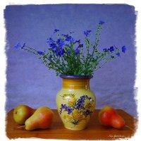 Цветы в вазе и груши :: Nina Yudicheva