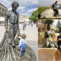 Фотография с диалогом/контрастом человека и скульптуры. :: Анна Чугунова