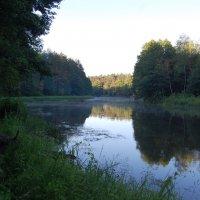 Рассвет на реке Вилия :: Михаил Шивцов