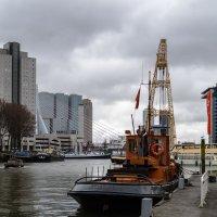 Старые корабли в порту, Роттердам :: Witalij Loewin