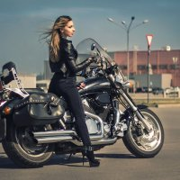 Девушка-байкер :: Ksenia Shelkova