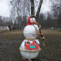 Какая зима - такой и снеговик. :: Галина Бобкина