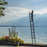 Швейцария. Набережная Женевского озера. :: Наталья Иванова
