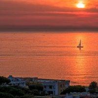 Закат на острове Искья, Италия :: Виталий Авакян