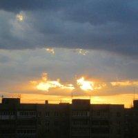 Закат в апреле :: Самохвалова Зинаида