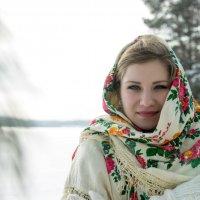Зимний портрет белорусской красавицы :: Анна Котенкова