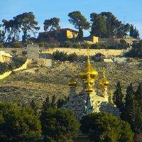 Иерусалим. Вид на Масличную гору и церковь Марии Магдалины. :: Игорь Герман