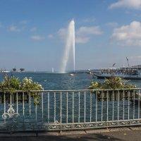 Женевский фонтан. Швейцария. :: Наталья Иванова