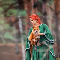 """Сказочная съемка """"Девушка с лисой"""" :: Александра Гилета"""