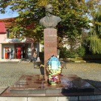 Памятник  Ярославу  Стецько  в  Стрыю :: Андрей  Васильевич Коляскин