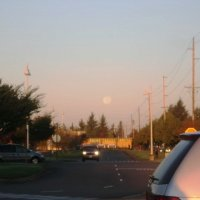Утро с луной :: Ольга Швец