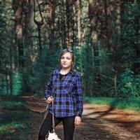 девочка с собакой :: Алиса Терновая