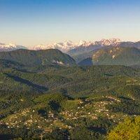 Вид со смотровой башни, гора Ахун, Сочи :: Евгений Землянухин