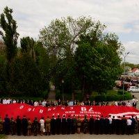 вынос знамени в г.Зеленокумске :: Наталия Сарана