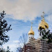 Строящийся храм в Архангельске. :: Ирина Кузина