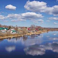 Село на берегу. :: Ирина Нафаня
