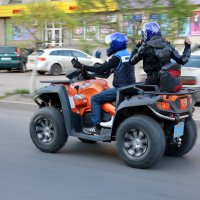 Открытие мотосезона в Павлодаре. :: Anna Gornostayeva