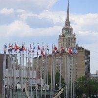 """Москва. Площадь Европы и гостиница """"Украина"""" :: Дмитрий Никитин"""