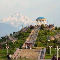 в нашем Парке с видом на горы :: Горный турист Иван Иванов
