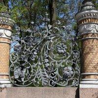Фрагмент решетки Александровского сада. Питер :: Наталья