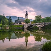 На оз. Бохинь, Словения. :: Тиша