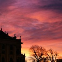 Багряно-огненный закат... :: Elena Danek