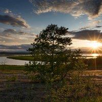 Закат на озере Мылки. :: Поток