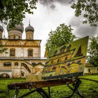 Новгородские купола на Соборах и на холстах художников. :: Алла ************