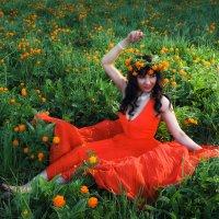 В поле вырос огонёк! :: Марина Кузьмина
