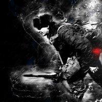 Красной точкой на чёрный лист... :: Виктор Никаноров