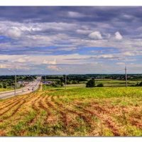 Панорама. Слева трасса М4 :: Александр