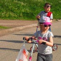 1 июня - День защиты детей (заметили утят на пруду) :: Андрей Лукьянов