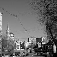 мечеть сквозь паутину проводов :: Дмитрий Паченков