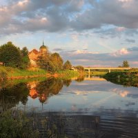 Николо-Столбенский монастырь и мост через Тверцу. :: Павлова Татьяна Павлова