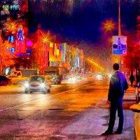 Поздним вечером на проспекте. :: Laborant Григоров