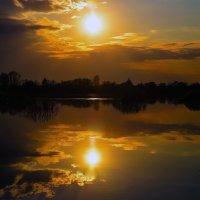 Ока, закат. :: Валерий Гудков