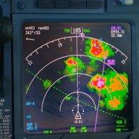Индикация Грозовых скоплений в цвете,на навигационном дисплее. :: Alexey YakovLev