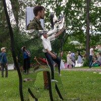 Зеркальный кот ломает пространство :: Юрий Ефимов