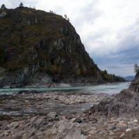 Место слияния Чемала и Катуни. :: Нелли Семенкина