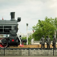 Паровоз-памятник Эр 787-70 (Брянск) :: Юлия Жукова